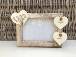 Shabby personalised Chic Photo Frame In Memory Of Mum Mam Mom Mummy Or Any Name - 332867203909